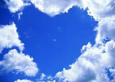 ουρανός καρδιών μορφής Στοκ εικόνα με δικαίωμα ελεύθερης χρήσης