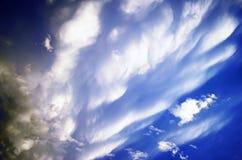 Ουρανός μετά από το ηλιοβασίλεμα σύστασης σύννεφων θύελλας Στοκ εικόνες με δικαίωμα ελεύθερης χρήσης