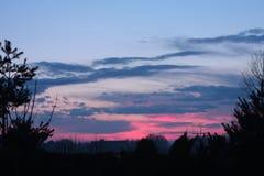 Ουρανός μετά από το ηλιοβασίλεμα Στοκ Φωτογραφίες