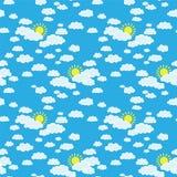 Ουρανός με τα σύννεφα και τον ήλιο Στοκ εικόνα με δικαίωμα ελεύθερης χρήσης