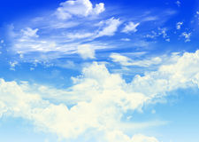 Ουρανός με τα σύννεφα Στοκ φωτογραφίες με δικαίωμα ελεύθερης χρήσης