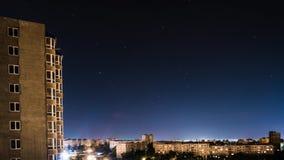 Ουρανός με τις διαδρομές αστεριών απόθεμα βίντεο