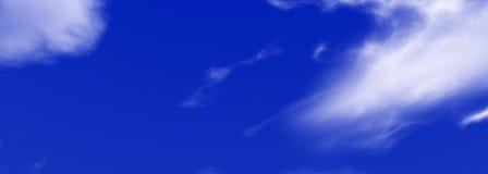 Ουρανός με το πανόραμα σύννεφων Στοκ εικόνες με δικαίωμα ελεύθερης χρήσης