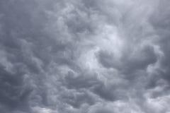 Ουρανός με φοβερό σύννεφα βροχής thunderclouds †« Στοκ εικόνα με δικαίωμα ελεύθερης χρήσης