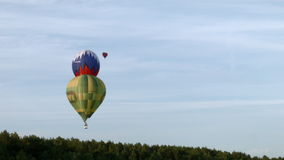 ουρανός μπαλονιών αέρα απόθεμα βίντεο