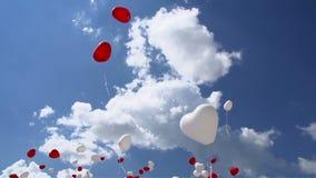 ουρανός μπαλονιών απόθεμα βίντεο