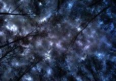 Ουρανός, μπλε, περίληψη, διάστημα, σύννεφα, σύννεφο, σκοτάδι, αστέρι, νύχτα, γαλαξίας, φως, φύση, θύελλα, σύσταση, ο Μαύρος, αστέ Στοκ φωτογραφία με δικαίωμα ελεύθερης χρήσης
