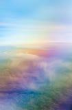 Ουρανός ουράνιων τόξων με την εναέρια άποψη σύννεφων Στοκ φωτογραφίες με δικαίωμα ελεύθερης χρήσης