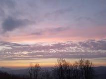 Ουρανός/ουρανός/ηλιοβασίλεμα στη Σλοβακία Στοκ Εικόνες