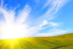 ουρανός πεδίων Στοκ εικόνες με δικαίωμα ελεύθερης χρήσης