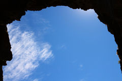 ουρανός πλαισίων σπηλιών Στοκ φωτογραφίες με δικαίωμα ελεύθερης χρήσης