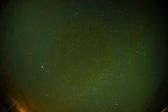 Ουρανός που πυροβολείται των αστεριών και της αυγής στην Ισλανδία Στοκ εικόνες με δικαίωμα ελεύθερης χρήσης