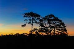 Ουρανός πρωινού στο γιο Thung μη Στοκ Εικόνες
