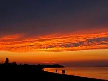 ουρανός πυρκαγιάς Στοκ εικόνες με δικαίωμα ελεύθερης χρήσης