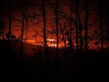 Ουρανός πυρκαγιάς στοκ φωτογραφία με δικαίωμα ελεύθερης χρήσης