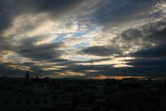 Ουρανός πόλεων στοκ εικόνες