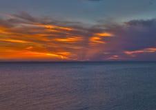 Ουρανός στην πυρκαγιά Στοκ φωτογραφία με δικαίωμα ελεύθερης χρήσης