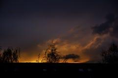 Ουρανός στην πυρκαγιά Στοκ Εικόνα
