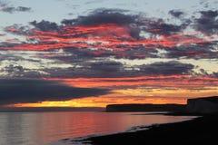 Ουρανός στην πυρκαγιά Στοκ Εικόνες