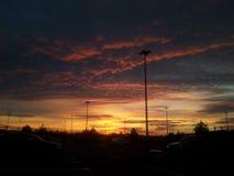 Ουρανός στην πόλη Στοκ Εικόνες