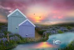 Ουρανός στη γη Στοκ εικόνες με δικαίωμα ελεύθερης χρήσης