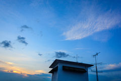 Ουρανός στη σύνθεση φύσης ηλιοβασιλέματος στοκ φωτογραφίες