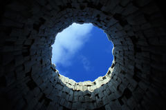Ουρανός στον κύκλο Στοκ Φωτογραφία