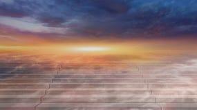 ουρανός στον τρόπο Θρησκευτική ανασκόπηση Στοκ Φωτογραφία