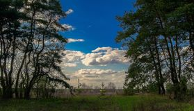 ουρανός στον τρόπο Στοκ Εικόνα