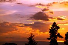 Ουρανός στο ηλιοβασίλεμα στοκ εικόνα με δικαίωμα ελεύθερης χρήσης