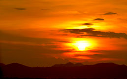Ουρανός στο ηλιοβασίλεμα, Ταϊλάνδη Στοκ Εικόνα