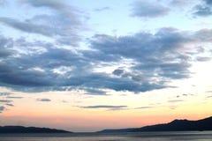 Ουρανός στο ηλιοβασίλεμα Στοκ εικόνες με δικαίωμα ελεύθερης χρήσης