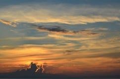 Ουρανός στο ηλιοβασίλεμα Στοκ Εικόνες