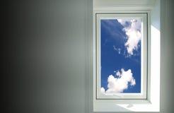 ουρανός στο παράθυρο Στοκ Εικόνα