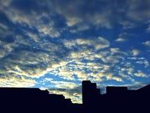 Ουρανός στο σούρουπο μετά από την εργασία Στοκ Φωτογραφία