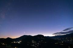 Ουρανός στο σούρουπο σε Rinchenpong, Sikkim, Ινδία Στοκ Φωτογραφίες
