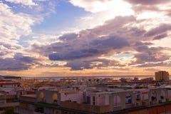 Ουρανός, σύννεφα, καθένα Estepona πόλη, Ανδαλουσία, Ισπανία Στοκ φωτογραφία με δικαίωμα ελεύθερης χρήσης