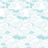 ουρανός σύννεφων άνευ ραφής διάνυσμα προτύπων Στοκ Εικόνα