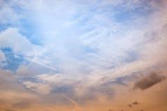 ουρανός σύννεφων πίσω από τα μόνιμα δέντρα δύο θερινού ηλιοβασιλέματος πεύκων στοκ φωτογραφία με δικαίωμα ελεύθερης χρήσης