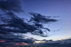 Ουρανός σύννεφων σούρουπου Στοκ Εικόνα