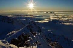 Ουρανός σύννεφων Aragats Αρμενία βουνών Στοκ Φωτογραφίες