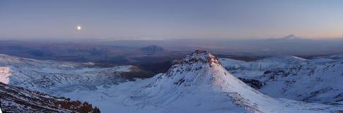 Ουρανός σύννεφων Aragats Αρμενία βουνών Στοκ φωτογραφίες με δικαίωμα ελεύθερης χρήσης