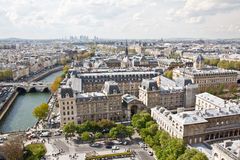 ουρανός του Παρισιού s 6 γραμμών Στοκ φωτογραφία με δικαίωμα ελεύθερης χρήσης