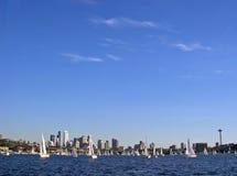 ουρανός του Σιάτλ Στοκ φωτογραφία με δικαίωμα ελεύθερης χρήσης