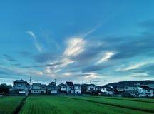Ουρανός των πλευρών χώρας Στοκ Εικόνες
