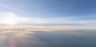 Ουρανός υποβάθρου στο ηλιοβασίλεμα Στοκ Εικόνα