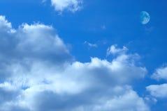 ουρανός φεγγαριών στοκ φωτογραφίες με δικαίωμα ελεύθερης χρήσης