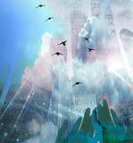 ουρανός χεριών διανυσματική απεικόνιση