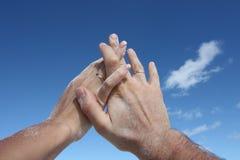 ουρανός χεριών Στοκ Φωτογραφίες