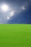 ουρανός χλόης στοκ φωτογραφία με δικαίωμα ελεύθερης χρήσης